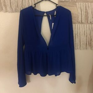 Urban outfitters cobalt blue blouse